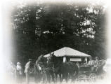 Morris County Fair, Harry Prudden and his team on parade, 09/27/1919, Morristown, NJ