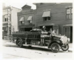 Hook and ladder truck, Speedwell Avenue, 07/14/1913, Morristown, NJ