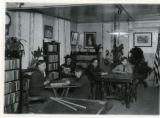 Boys in the reading room at Neighborhood House, 01/15/1916, Morristown, NJ