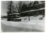 Stalled sweeper and snow plow, Morris County Traction Company, Morris Street, 02/07/1920,...
