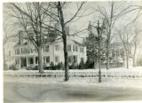 Marsters home, in front of the Vail Mansion, South Street, 02/06/1923, Morristown, NJ