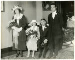 Mr. and Mrs. William Matthews (Florence Davis) and wedding party, 06/03/1923, Morristown, NJ