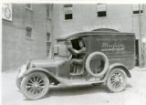 Louis Moglia and his Dodge delivery truck, Speedwell Avenue, 06/20/1923, Morristown, NJ
