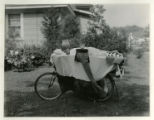 Shimer, Elliot, in bed on a bicycle, 07/26/34, Morris Plains, NJ