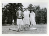 Pauline Burke, Mrs. A.A. Vescelius, and Mrs. John Horsefield at the Springbrook Country Club,...