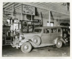 Wrecked car at Frederick's Garage, 07/20/36, Morristown, NJ