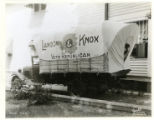 Covered wagon at the local Repuclican Party headquarters, 08/13/36, Morristown, NJ