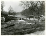 Dam under construction at Speedwell Lake, 11/14/37, Morristown, NJ