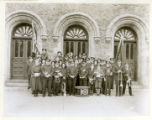 Salvation Army band in front of M.E. Church, 05/30/35, Morristown, NJ