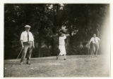 N. Toms, W.M. Clancy, and Dr. Romine playing golf at Spring Brook Golf Club, 09/18/26, Morristown,...