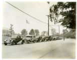 Parade of new Ford cars, 06/01/33, Morris Plains, NJ