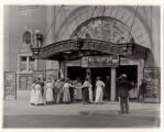 Lyon's Theatre, crowd in front entering building, 09/04/1916, Morristown, NJ
