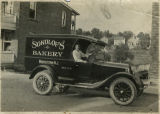 Vehicles, Sokolof's delivery truck, Race Street, rear, 6/20/1923 Morristown, NJ
