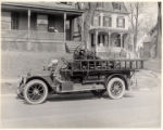 Fire truck, First Ward hose Co., Front of Clark Row and Morris Street, 3/25/1924, Morristown, NJ