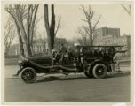 Fire truck, Morristown Fire Dept., pumping engine,  Park Place East, 3/25/1924, Morristown, NJ