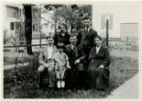 Group, Benjamin Shekerjian and family on lawn, 7/13/1924, Morristown, NJ