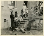 Salvation Army, visiting poor family, 8/12/1925, Morristown, NJ