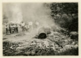 Destroying bootleg rum, Ridgedale dump, 8/10/1925, Morristown, NJ