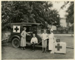 Red Cross, nurse giving first aid, 8/13/1925, Morristown, NJ