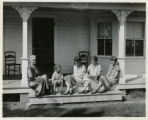 Quimby home, Mrs. Quimby, her daughter and others , 8/22/1925, Morristown, NJ
