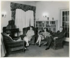 Community Club, group listening to radio, 11/7/1928, Morristown, NJ