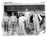 Railroad workmen, Delaware, lackawanna and Western Railroad, 7/13/1913, Morristown, NJ