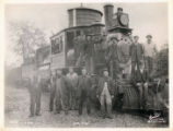 Railroad workmen, Morristown & Erie Erie train and crew, 1906, Morristown, NJ