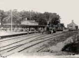 Railroad station, old Delaware, Lackawanna and Western R.R. Depot, ca. 1900, Morristown, NJ