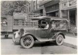 Vehicles, delivery Truck, Rocco Cifrese behind wheel, Campus Markets, 6/20/1924, Morristown, NJ