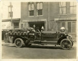 Fire truck, Independent Hose Company, Washington St. 6/19/1923, Morristown, NJ