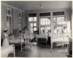 All Souls Hospital, childrens ward interior, 07/24/1924, Morristown, NJ