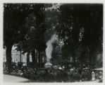 Firemen's Day, showing old engine, 9/25/1918, Morristown, NJ