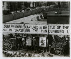 Railroad, Delaware Lackawanna and Western R.R., display of guns captured in the Argonne,...