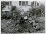 Individuals, Albert Sickler in garden, 8/7/1919, Rockaway, NJ