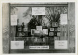 Window display for Community Chest, Morristown Library in Epsteins window, 10/22/1922, Morristown,...
