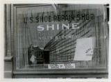 Window display for Community Chest,  shoe shine store, 10/22/1922, Morristown, NJ