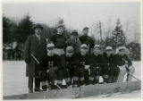 Morristown School hockey team, 1/30/1926, Whippany Road, Morristown, NJ
