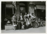 Mary McIntosh and assistants selling poppies, 5/29/1926, Speedwell Avenue, Morristown, NJ