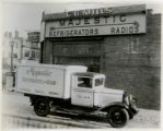 C.B. Mills, Radio Shop & Truck, Community Place, 1/5/1931, Morristown, NJ