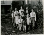 Harold King and family, Center Avenue, 11/23/1930, Morristown, NJ
