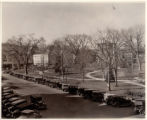 Morristown Green, southwest view from The Record Building, 02/13/1932, Morristown, NJ
