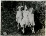 Amy King and two sisters, Center Street, 11/23/1930, Morristown, NJ