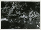 Swimming at Potterville waterfalls, 7/10/1926, Potterville, NJ