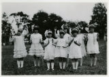 Children dressed as dolls at the Children's Home, 6/19/1926,  Parsippany, NJ