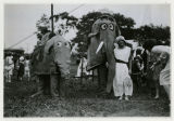 Children playing as circus elephants at the Children's Home, 6/19/1926, Parsippany, NJ
