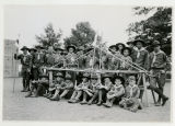 Boy Scouts bridge building, 6/26/1926,  Mountain Lakes, NJ
