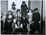 Halloween visitors at the Curtiss Studio used in 1936 advertisement, 16 Morris Plains Avenue,...