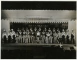 Minstrel show group portrait, Vail School, 12/4/1934, Morris Township, NJ