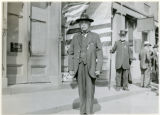 G.A.R. Vet, Major Robert E. Burke (Grand Marshall), Washington street, 5/30/1922, Morristown, NJ