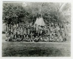 Morristown playground, children dressed as Indians, 10/10/1914, Morristown, NJ